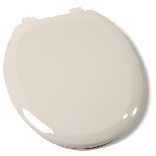 - Comfort Seats C1B3R4-02 Premium Plastic Toilet Seat, Round, Biscuit