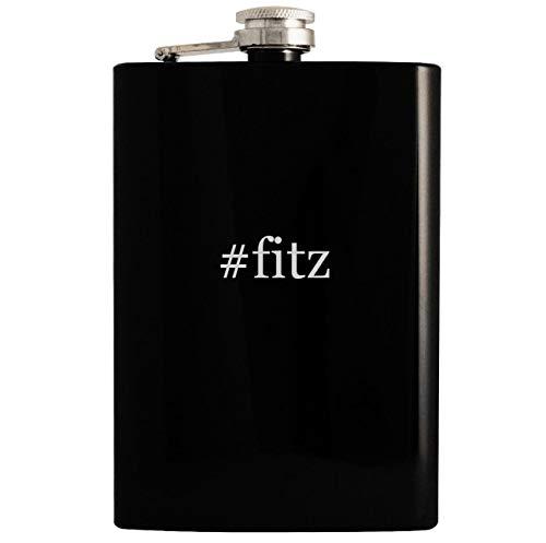 #fitz - Black 8oz Hashtag Hip Drinking Alcohol ()