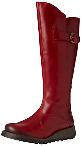 Fly London Mol P142912, Botas de cuerro Mujer Rojo (Red 001)