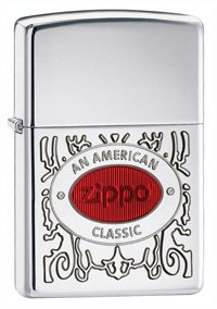 - Zippo American Classic Armor High Polish Chrome Lighter