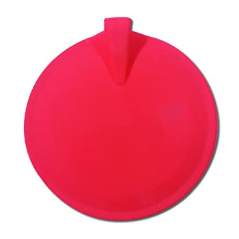 """Chattanooga Red Round Carbon Rubber Electrodes, 4"""" Diameter"""