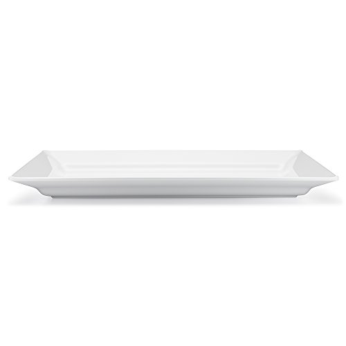 Q Squared Diamond White BPA-Free Melamine Large Rectangle Platter, 17-1/4 by 10-1/2, White by Q Squared (Image #3)