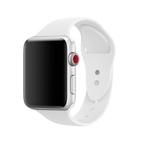 For Apple watch Band 42mm, Silicone iWatch Bands 42mm for Series 3 2 1 White