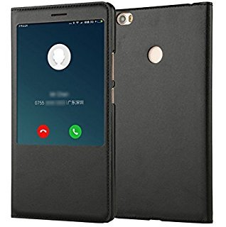 best website fcd34 37fb6 SmartLike PU Leather Flip Cover for Oppo F5 Youth (Black)