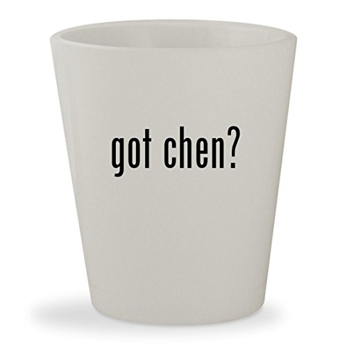 got chen? - White Ceramic 1.5oz Shot (Paul Chen Knife)