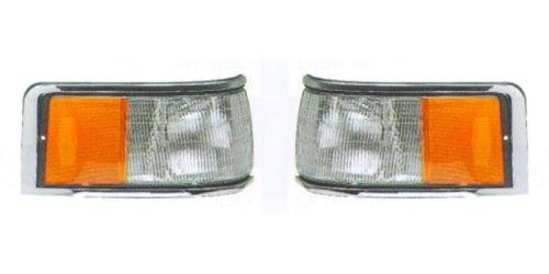 Go-Parts PAIR/SET OE Replacement for 1990-1994 Lincoln Town Car Side Marker Lights Assemblies/Lens Cover - Front Left & Right (Driver & Passenger) Side For Lincoln Town Car