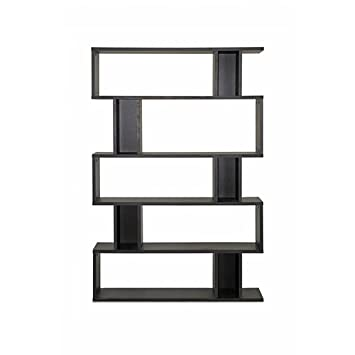 Baxton Studio FP-5DS-Shelf (3A) Goodwin 5-Level Modern Bookshelf - Dark Brown