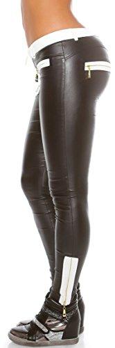 XL Skinny Taglia elegante 900671 M pantacalze morire S in L Colori pantaloncini Schwarz tessuto con Pant Applicazione UzqUPg