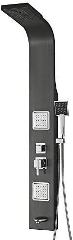 調整可能 調節可能なハンドル付きのスタンドアップサーモスタットシングルバスルームシャワー 有用 (Bath & Shower Faucet Type : In-Wall B+amp; S Faucets)