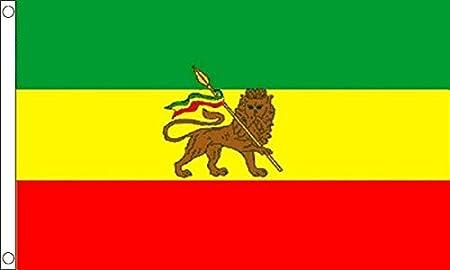 Flag Wholesaler Ethiopia with Lion Rasta Drapeau Mixte