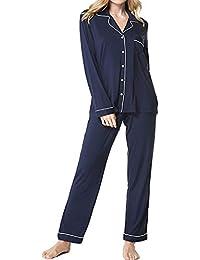 Pajamas Set Women's Long Sleeve Sleepwear Loungewear Soft Pj Set S-XXL