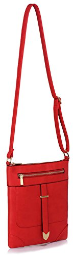 Bags Shoulder Luxury Red Crossbody Body 1 Zip Cross Ladies Womens Design New Designer Front Messenger With YwWxXEfqfZ