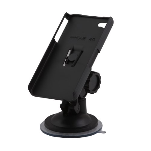 Nifty NFKJ-S054G+GP06 Car Mount Holder for iPhone 4 - Retail Packaging - Black