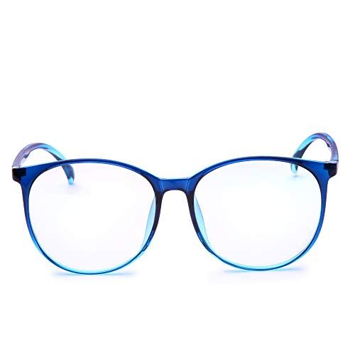 Jcerki Oversize Frame Bifocal Reading Glasses +2.00 Men Womens Lightweight Bifocal Readers ()