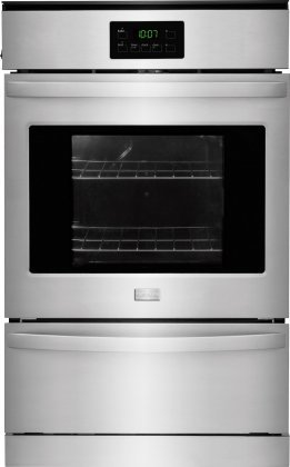 "Frigidaire FFGW2415QS 24"" Single Gas Wall Oven with 3.3 c..."