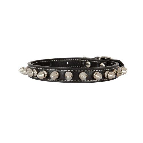 Lazy Bonnezz LB1005xs-001 Pet Spike Collar, Black (Signature Spike Leather)
