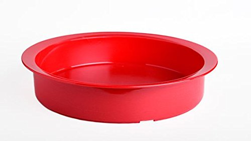 High Sided Dish with Rim each - Color - Red