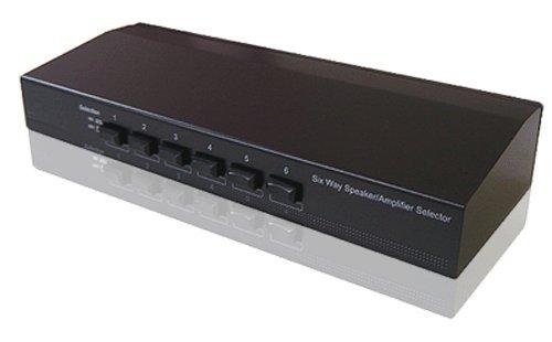 6-Port Speaker Selector Amplifier Switch Selector ()