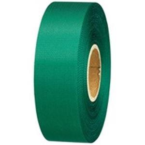 生活日用品 (業務用10セット) カラーリボン緑 24mm×25m 10個 B824J-GR10 ×10セット B074MLF8HP