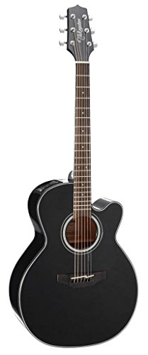 Takamine GN30CE-BLK Nex Cutaway Acoustic-Electric Guitar,...