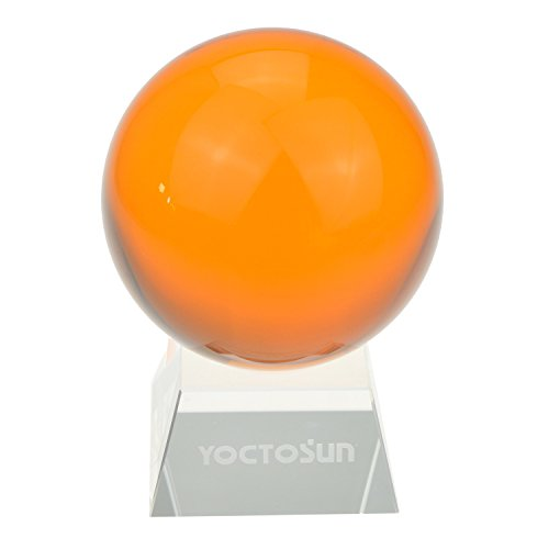 - YOCTOSUN Crystal Amber Crystal Ball 3.15 inch (80mm) Crystal Sphere Ball with Free Crystal Stand