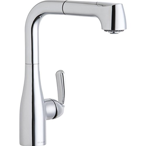 Elkay LKGT2042CR Gourmet Chrome Single Lever Pull-out Spray Bar Faucet ()