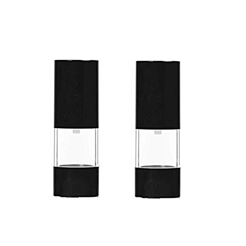 2Pcs Black Empty Refillable Plastic Airless Pump Bottle Airless Vacuum Pump Cream Lotion Make Up Bottle Jars Toiletries Liquid Container Lightweight Leak Proof For Home and Travel ()