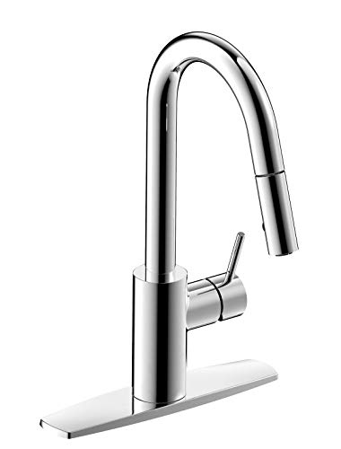 Fontaine by Italia Palais Royal, MFF-PRK1-CP, Single Handle, 1 or 3 Hole Pull-Down Kitchen Sink Basin Faucet Fixture Tap in -