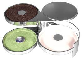 Chrome Look Glass Rimmer / Margarita Salter with 3 Compartments by Co-Rect Products