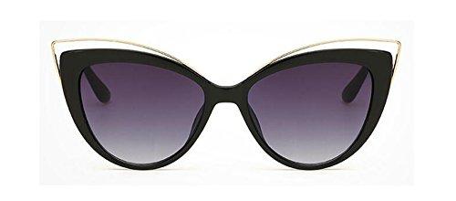 Mujer Vintage estilo technolog Dama Clásica veraniego Gris marca Ojo de hembra gafas Diseñador sol Negro Marco de gafas qbling de de Moda Gato 4Iqdw6wU