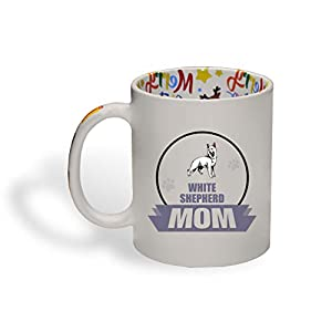Ceramic Christmas Coffee Mug Mom White Shepherd Dog Funny Tea Cup 28