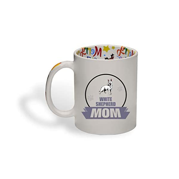 Ceramic Christmas Coffee Mug Mom White Shepherd Dog Funny Tea Cup 1