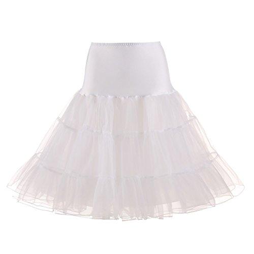 3XLJupe Femme Jupon pour M 110cm Rtro Style 66cm Vintage Elastique 50 Blanc Anne Rockabilly ZAFUL de Jupon Taille q657dW5F