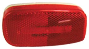Peterson V180R Piranha Red LED Oval Clearance/Side Marker Light with Reflex 177-V180R