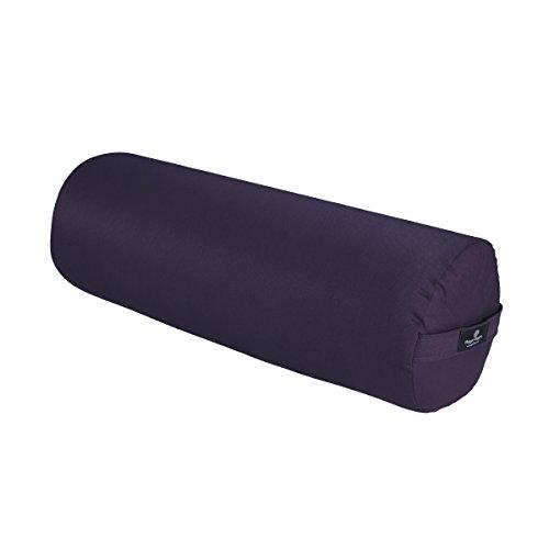 Hugger Mugger Round Yoga Bolster (Plum)