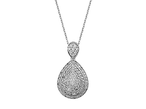 Collier de Diamants-Femme- or Blanc 204P0043
