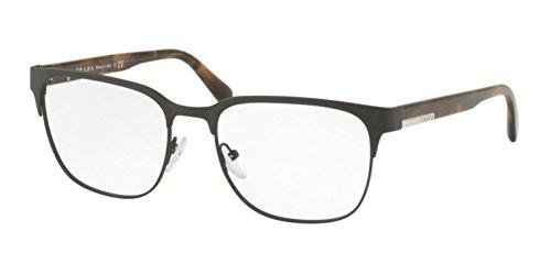 Prada Men's 0PR 57UV Matte Brown One Size (Tone Brown Sunglasses Plastic Two)