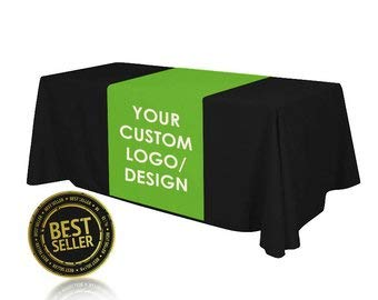 (Tremendous Designs 6FT Table Cloth + Table Runner Included Customize with Your Logo 24