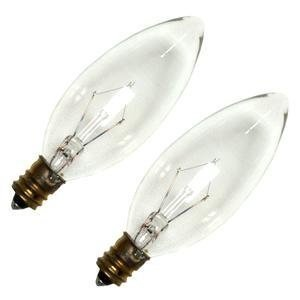Westinghouse Docorative Torpedo Light Bulb 25 W 190 Lumens Candelabra 3-1/2 in. Clear Card / 2