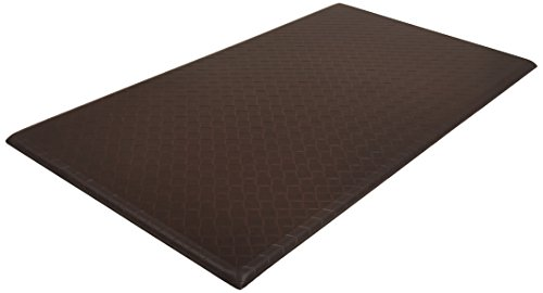 AmazonBasics Premium Anti-Fatigue Standing Comfort Mat for Home and Office - 20x36-Inches, Dark Brown