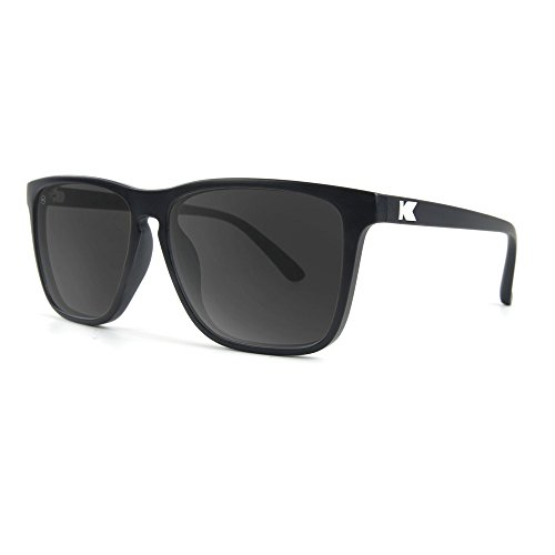 Knockaround Fast Lanes Polarized Sunglasses, Matte Black Frames/Smoke - Knockaround Sunglasses