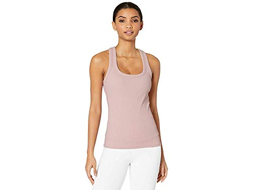 ALO Women's Rib Support Tank Top Pale Mauve Large