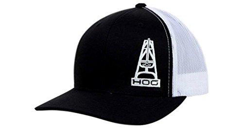 a80798576e5 HOOey Hat Mens Trucker Cap Mesh Back Oil Gear One Size Black 3003T