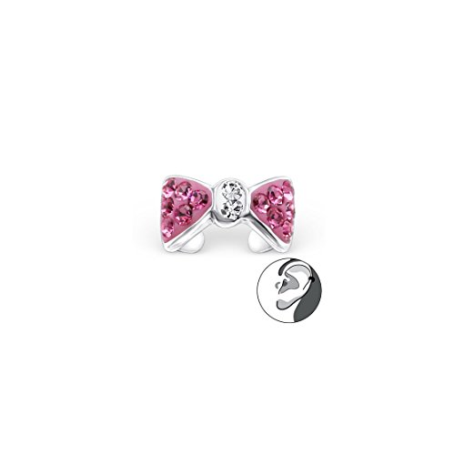 925 Sterling Silver Bow Ear Cuffs, Ear (Sterling Bow Pin)