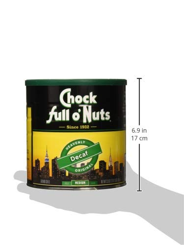 Chock Full O Nuts Decaffeinated Coffee, 33.9 Ounce