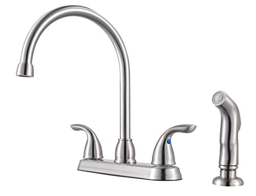 Pfister G136500S Series 2-Handle Kitchen Faucet with Side Spray, 1.75 GALLONS PER MINUTE, Stainless Steel
