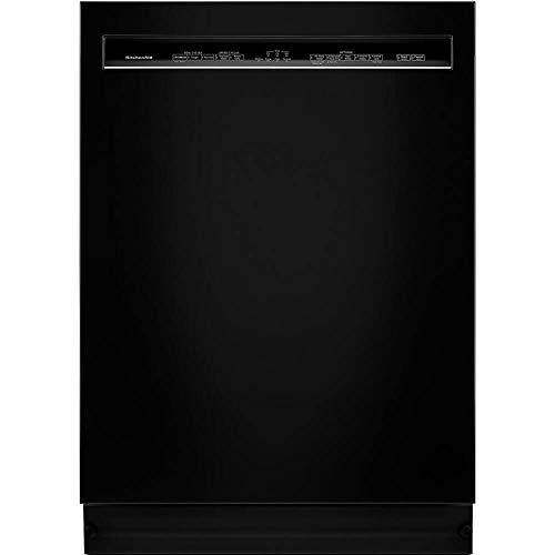 KitchenAid KDFE104HBL 46dBA Black Front Control Dishwasher