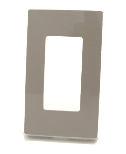Wall Snap Screwless Plate - Leviton 80301-SGY 1-Gang Decora Plus Wallplate Screwless Snap-On Mount, Gray