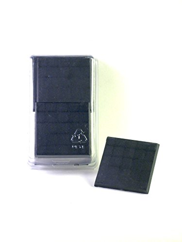 Value Pack of 10 - 50MM Square Black Monster Miniature Model Bases for TableTop or Miniature WarGames by Hedral