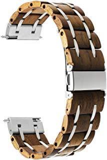 1 opinioni per TRUMiRR cinturino da polso di rilascio rapido del braccialetto di cuoio genuino